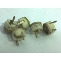 4/15 пф ((цена за 5 шт)) Подстроечный конденсатор керамический. 4-15 pf. Предположительно кт4-25б
