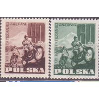 Польша 1955 год Серия * Спорт Мотоцикл \\5