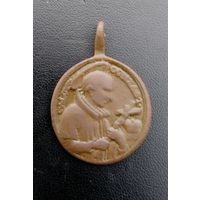 Медальон католический старинный 26*28мм
