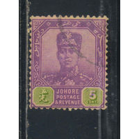 GB Колонии Малайя Джохор 1922 Ибрагим Стандарт #91