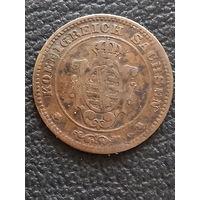 1 пфенниг 1865 Саксония