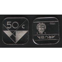 Аруба _km4 50 центов 1986 год (ha) (b06)