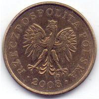 Польша, 2 гроша 2008 года.