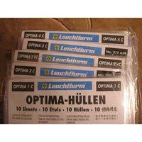 Листы для банкнот, OPTIMA 1c;2c;2vc;3c;4c;5c, упаковка (10шт.), прозрачные, новые.