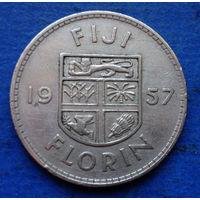 Фиджи Британская колония флорин 1957