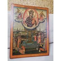 Восхитительная форматная икона Живоносный Источник пресвятой Богородицы, 19 век.