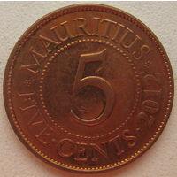 Маврикий 5 центов 2012 г. (gl)