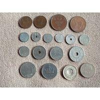 Норвегия набор 18 монет 1927-1995