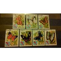 Бабочки, насекомые, марки, фауна, Никарагуа, 1982
