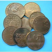 Словения 5 толариев. Полный комплект 11 монет!!! (UNC)