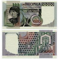 Италия. 10 000 лир (образца 1982 года, P106b, UNC)