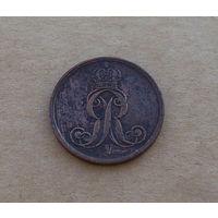 Ганновер (королевство), 2 пфеннига 1856 года