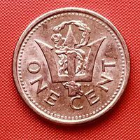 18-18 Барбадос, 1 цент 2008 г.