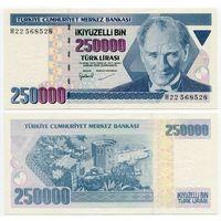 Турция. 250 000 лир (образца 1998 года, P211, aUNC)