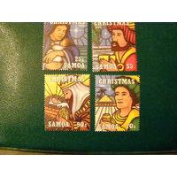 Самоа 1995 живопись Рождество религия **