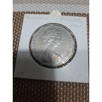 Австралия 50 центов 1981