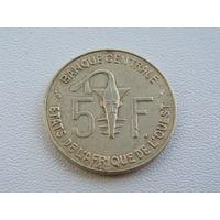 Западная Африка.  5 франков 1978 год КМ#2а