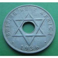 Западная африка. 1 пенни 1936