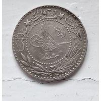 """Османская империя 20 пар, 1327 (1909) цифра """"O"""" (5) 5-2-4"""