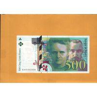Франция 500 франков 1994г. унс