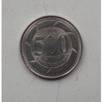 500 ливров 2000 г. Ливан