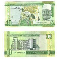 Гамбия 10 даласи 2015 Яйя Джамме – президент Гамбии ПРЕСС из пачки UNC