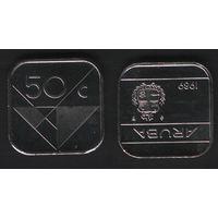 Аруба _km4 50 центов 1989 год (ba) перв.год (coin) (b06)