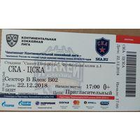 Хоккей КХЛ Билет Русская Классика СКА - ЦСКА