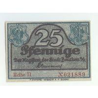 Германия, 25 пфеннигов 1921 год.