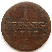 Германия Саксония-Альбертина 1 пфенниг 1773 год