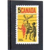 Канада.Ми-424. Игроки Lacrosse. Серия: Лакросс.1968.