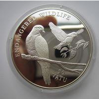 Вануату.  50 вату 1992. Вымирающий вид голубей .  Серебро. Пруф.   .4Е-27