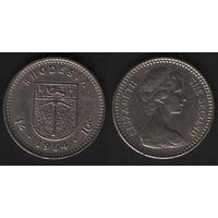 Родезия _km2 1 шиллинг (10 центов) 1964 год (f50)(ks00)(b13)