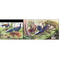 Охрана птиц - Фазаны Тайвань 2014 год серия из 4-х марок в сцепке и 1 блока