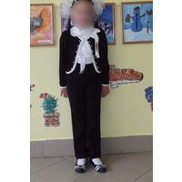 Р.128 брюки школьные БелльБимбо,черные,без стрелок