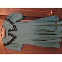 Платье ретро 1990г.Р-р 42-й р.160см.,или обмен.