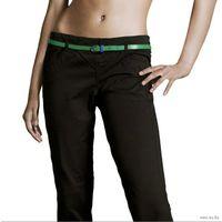 РАСПРОДАЖА!!! СКИДКА 30 %!!! Брюки с ремнем испанского бренда BERSHKA, 100 % оригинальные, модель Pantaloni neri con cintura amovibile