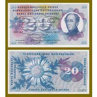 [КОПИЯ] Швейцария 20 франков 1976г.