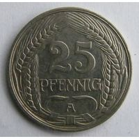 Германия, 25 пфеннигов 1910 год.  - ТОРГ по МНОГИМ Лотам !!! -