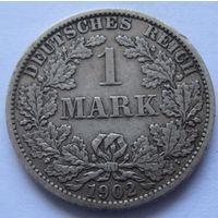 Германия 1 марка 1902 отметка монетного двора A - Берлин