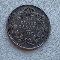 Канада 10 центов, 1919  7-6-31
