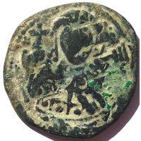 ВИЗАНТИЯ. КОНСТАНТИН X ДУКА (1059-1067 г.). АЕ ФОЛЛИС. ПЕРЕЧЕКАН.