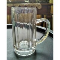 Кружка Германия нач. 20 в., клеймо O. G., бокал пивной, стекло, кубок, целый, 13 см.
