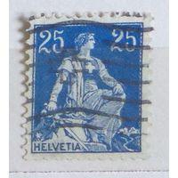 Восседающая Швейцария. Дата выпуска:1908-08