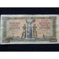 Греция 5000 драхм 1942 г