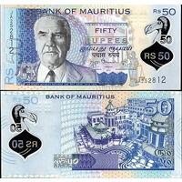Маврикий 50 рупий образца 2013 года UNC p65