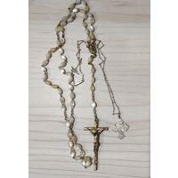 Розарий перламутр (баламуты) и крест дагмар