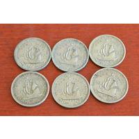 Карибские острова 10 центов 1955-1956