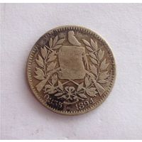 1 реал 1894 Гватемала Кетцаль Бирмингем Серебро