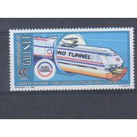 [1691] Гвинея 1992. Поезда,локомотивы.